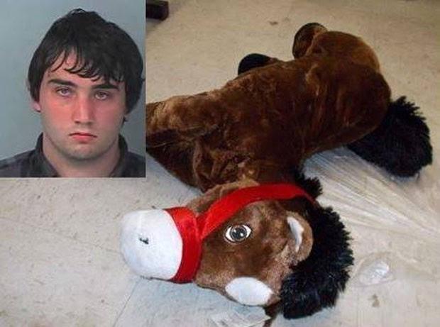 Cavalo de pelúcia foi 'atacado' por tarado sexual (Foto: Brooksville Police Department)