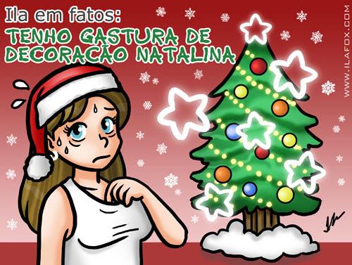 Tenho gastura de decoração de natal, decoraçãop de natal cafona, decoração de natal brega, ilustração by ila fox