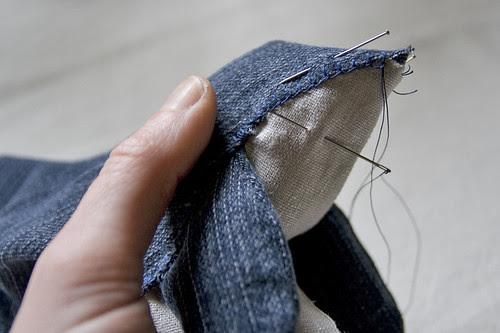 in stitching