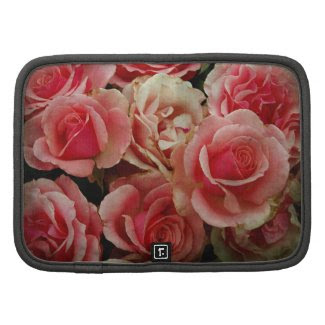 Aged Beauty Pink Floral Flowers Bouquet Organizer