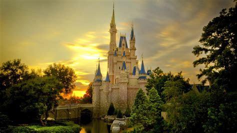 full hd wallpaper disneyland castle fairy evening travel