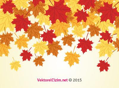 Vektörel çizim Yaprak Sonbahar Background