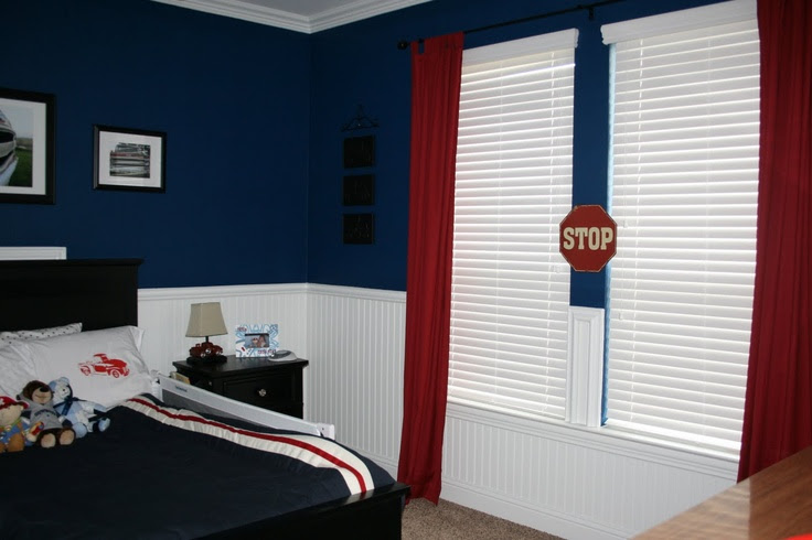 Blue comforter in blue room?