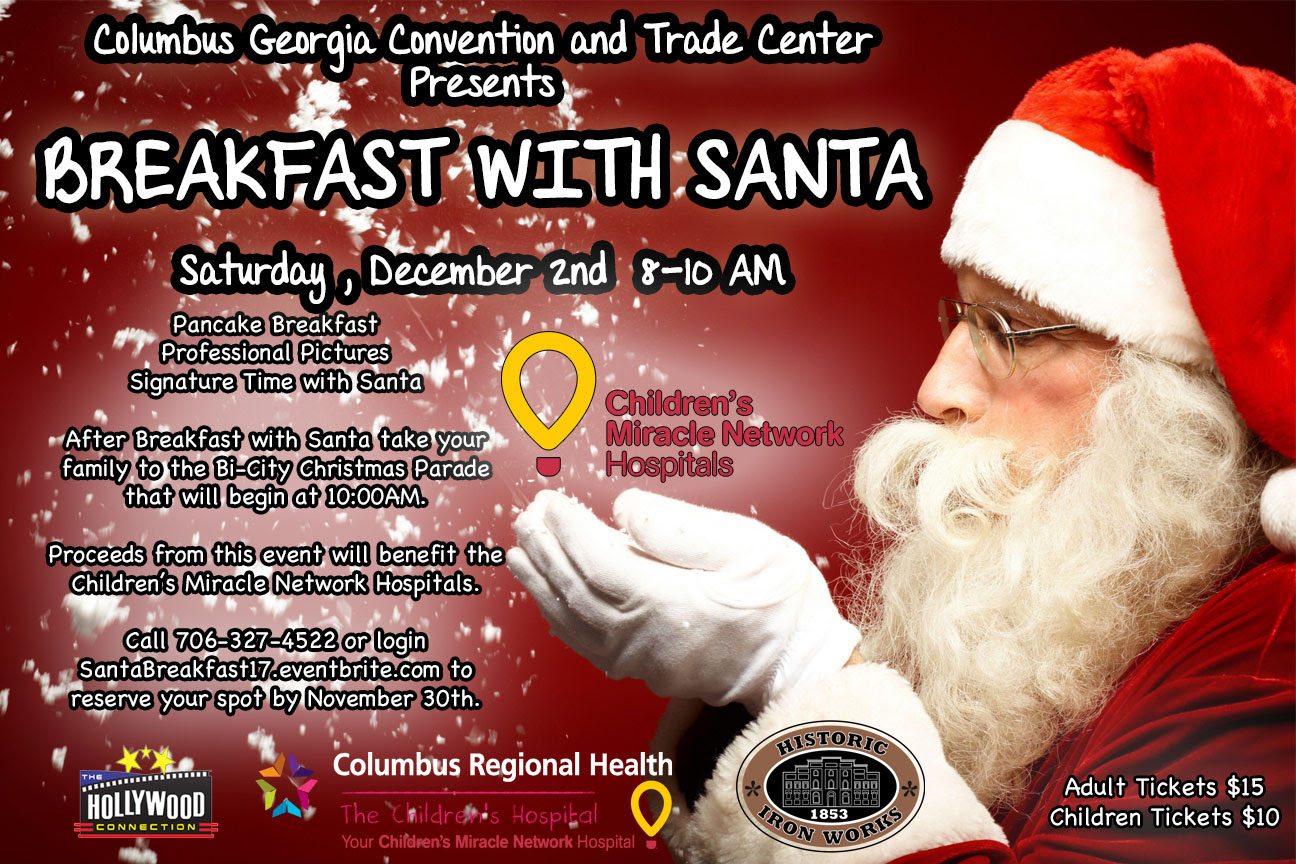Trade Centers Breakfast With Santa Visit Columbus Ga