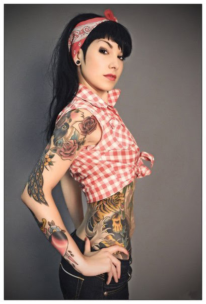 Pin Up Girl Sleeve Tattoos Military Tattoo Desi On Pin Up Girl
