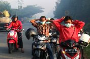 Pengguna Jalan Terganggu Asap Dampak Kebakaran Lahan di Aceh