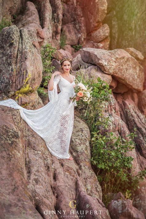 Celine Lace Boho Wedding Dress, Bohemian Ivory Wedding