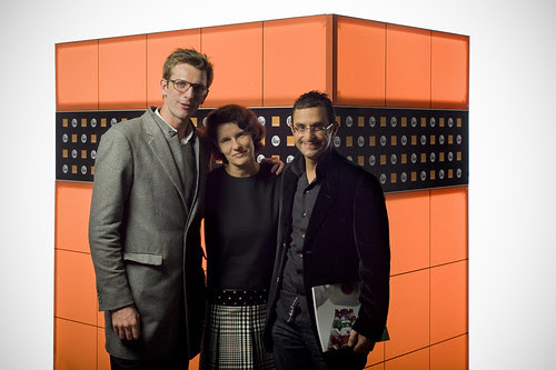 FIAC Paris 2011 - Orange : Xavier Leclerc (Facebook France), Odile Roujol (Orange France) et Arash Derambarsh by Arash Derambarsh