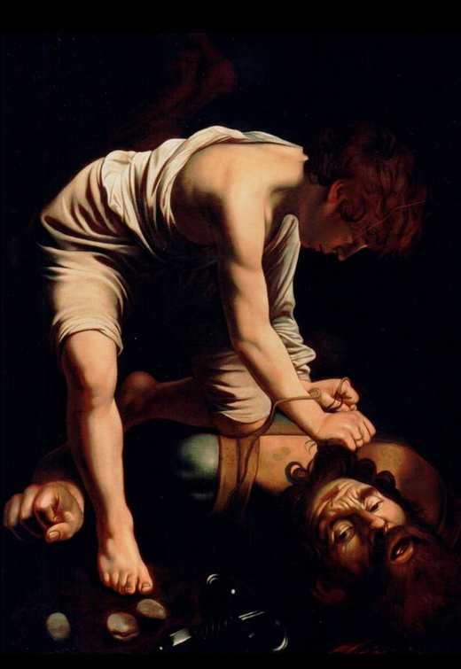 Caravaggio Copy David with Samson's Head