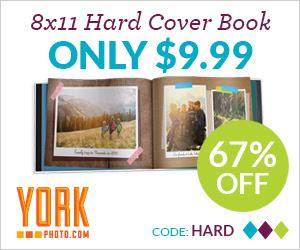 8X11 Custom Cover Hardbound Photo Book – Just $9.99 – Save $20!