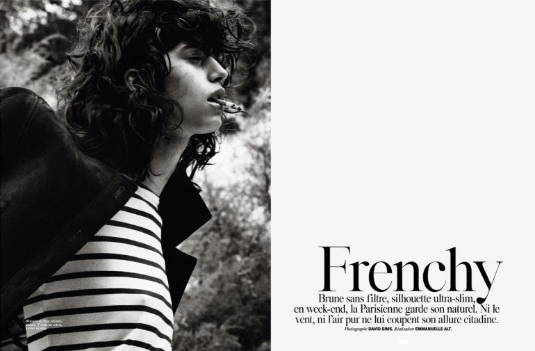 Mica Arganaraz in 'Frenchy' by David Sims for Vogue Paris 2