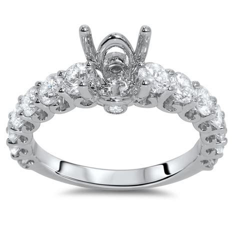 Cathedral Engagement Ring for 2 ct Center Stone   AR14 054