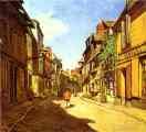 Claude Monet.  La Rue de la Bavolle em Honfleur.