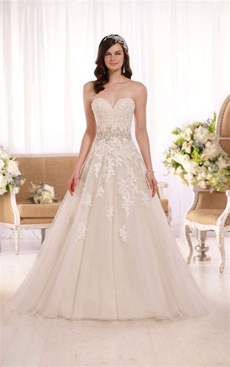 A line Plus Size Wedding Dresses   Essense of Australia