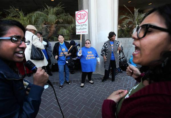 Protesting plans for Crenshaw High