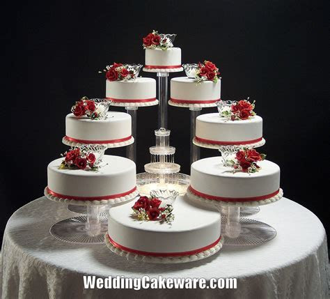 12 Wedding Cakes Tiers Stands Photo   Cascading Wedding