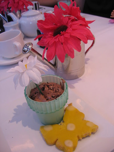 Dessert  -- chocolate mousse and a cookie