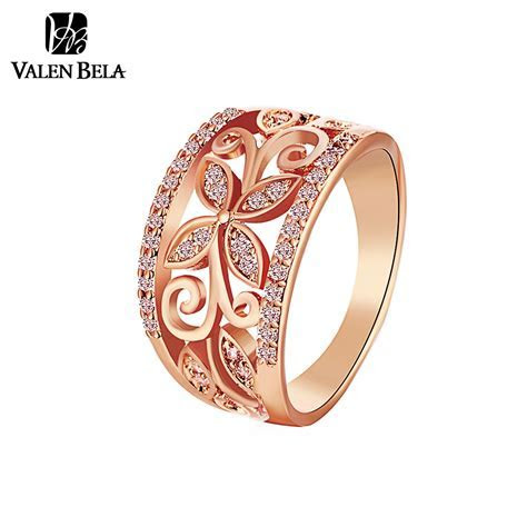 Aliexpress.com : Buy VALEN BELA Rose Gold Flower Cubic
