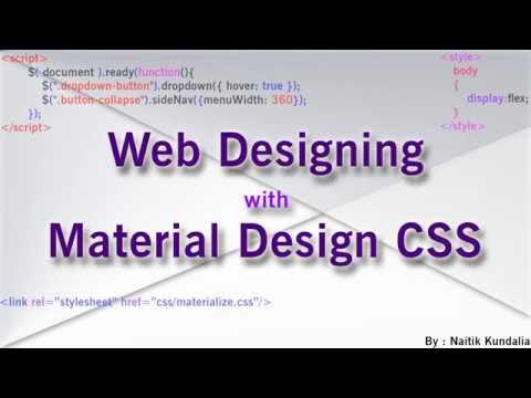 Tutorial : Create Dropdown Menu Using Materialize CSS