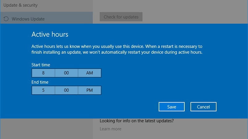 Use Active Hours In Windows to Prevent Updates When You Need to Use Your PC