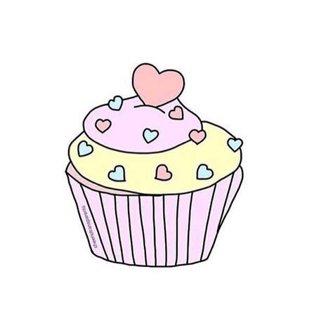 Drawn Cupcake Transparent Tumblr#3299802