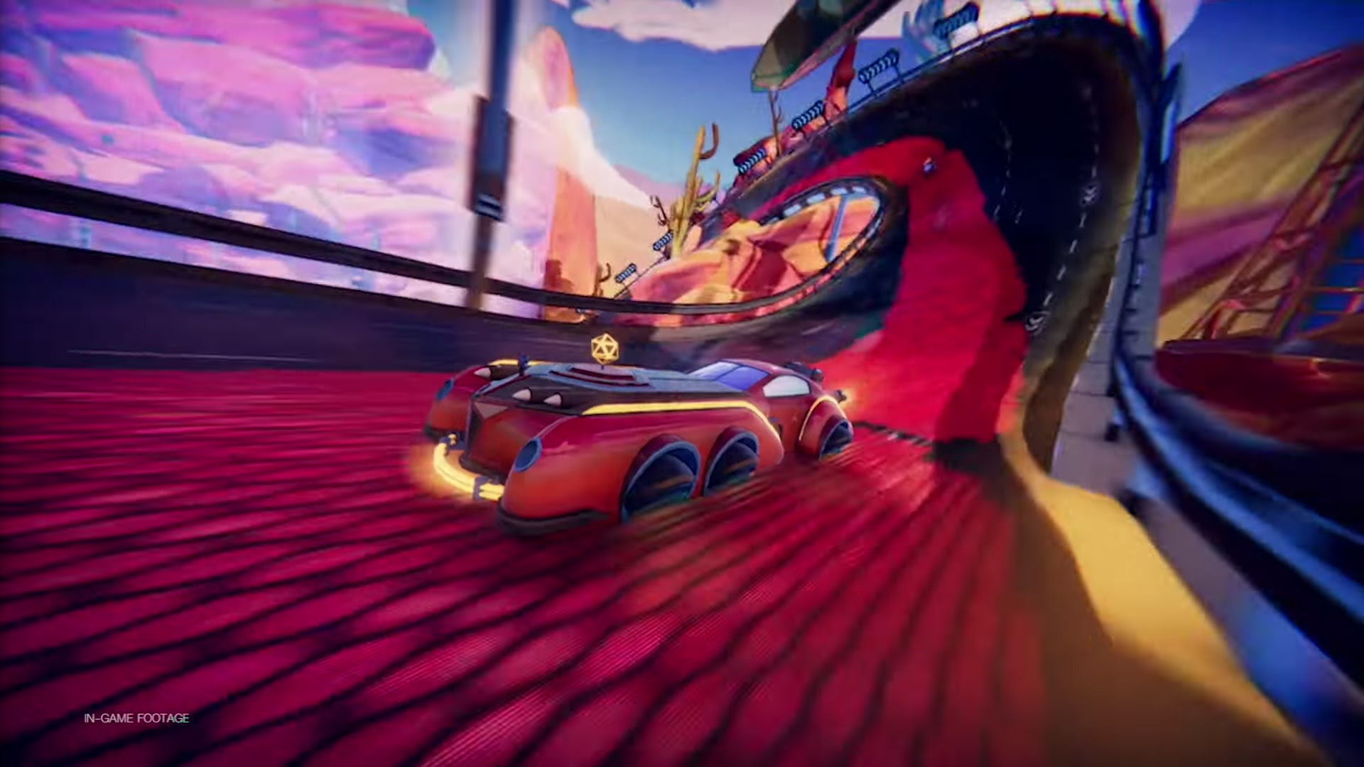 Trailblazers is a team-based racing game about painting the track screenshot