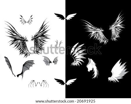 angel wing tattoo. dark wings, angel wings,