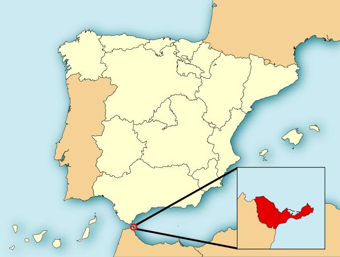 خريطة سبتة