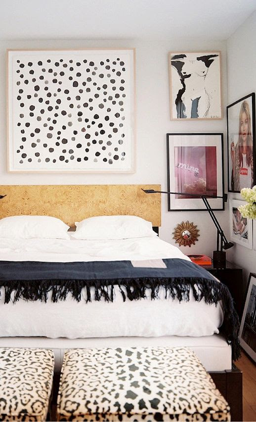 LE FASHION BLOG CHIC NEW YORK CITY BEDROOM LONNY MAGAZINE MICHELLE ADAMS FRAMED ART WALL PAINT DOT ART PRINT BLACK MINIMAL SWING ARM LAMPS LEOPARD PRINT STOOL OTTOMAN KATE MOSS SUPREME POSTER NEON SIGN PHOTO WHITE SHEETS FRINGE HEM THROW BLANKET NUDE ILLUSTRATION GOLD WOOD HEADBOARD HOLLYWOOD GLAMOUR CHIC MINIMAL INTERIOR DESIGN DECOR 1 photo LEFASHIONBLOGCHICNEWYORKCITYBEDROOMLONNYMAGAZINEMICHELLEADAMS1.jpg