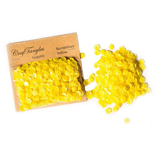 CrafTangles Sequins - Bumblebee Yellow