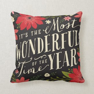 Holiday Floral Throw Pillows