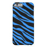 Cobalt Blue Zebra Striped Barely There iPhone 6 Case