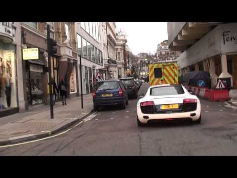 ef792c3dda6aab Classic Cars Authority  Looking Back  D.K.O. Tuned Audi R8 Sportec  (Incredible Exhaust) Driving Around London