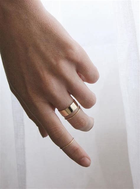 Best 25  Simple gold rings ideas on Pinterest   Thin rings