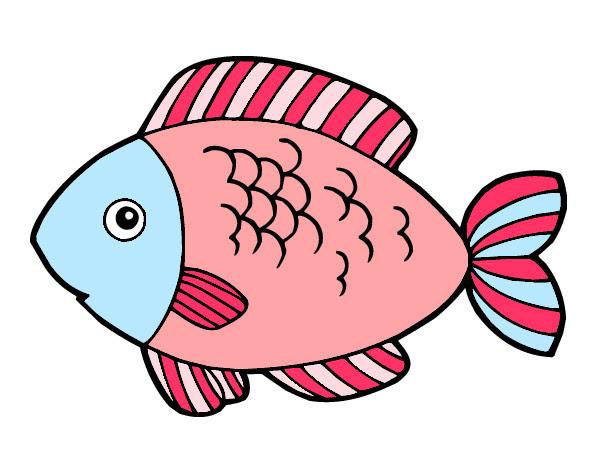 Dibujo De Pescado Pintado Por Vionette En Dibujosnet El Día 09 05