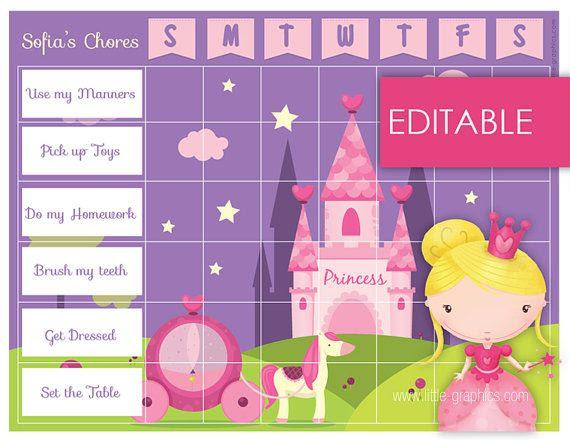 princess reward charts | Disney Princess Star Sticker Reward Chart ...
