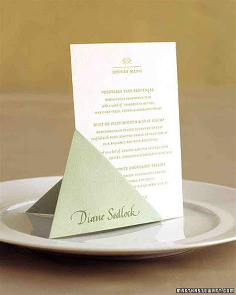 Unique Place Cards   Martha Stewart Weddings