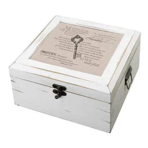 Christian Wedding Antique White Wish Card Box