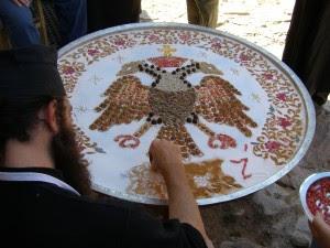 κόλλυβα άγιο όρος λαύρα δικέφαλος βυζαντινή εικόνα