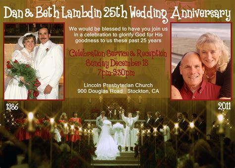Our 25th Wedding Anniversary Celebration Service   Inspire