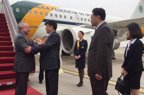 Temer desembarca na China para cúpula do Brics