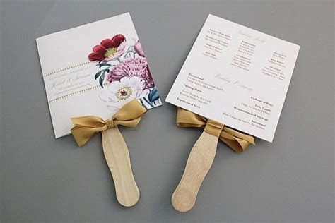 How to Make Wedding Program Fans DIY Projects Craft Ideas