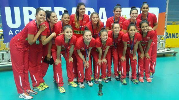 Perú ganó medalla de bronce en Sudamericano de vóley Sub 20