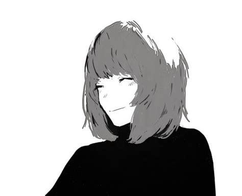 ringo mogire beam monochrome aesthetic   anime