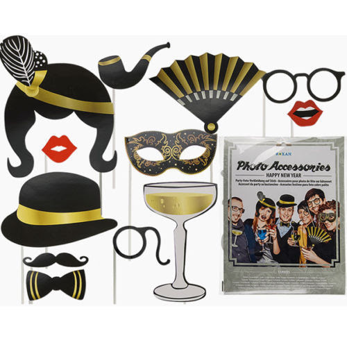 New Years Eve Party Photo Booth Props Wedding Glamour Party Props