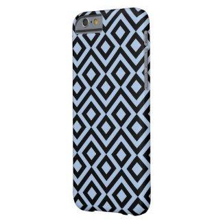 Light Blue and Black Meander iPhone 6 Case