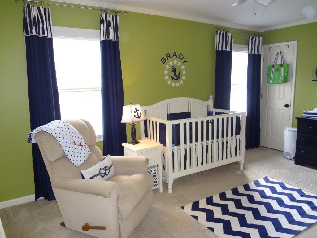 Green and Navy Nautical Nursery - Project Nursery