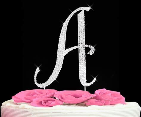 Completely Covered Swarovski Initial Cake Toppers