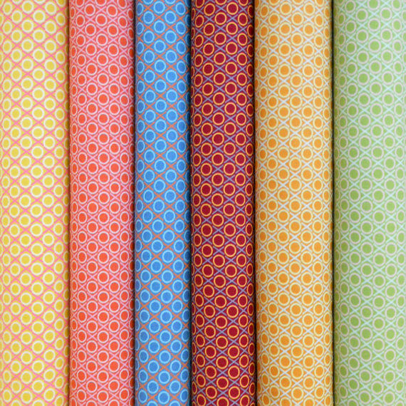 Fabrics for Friday's Giveaway -- Loulouthi Hugs & Kisses 1/2 yard Bundle
