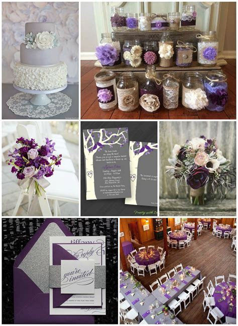 Purple & Gray Wedding Ideas   Rustic Wedding Chic